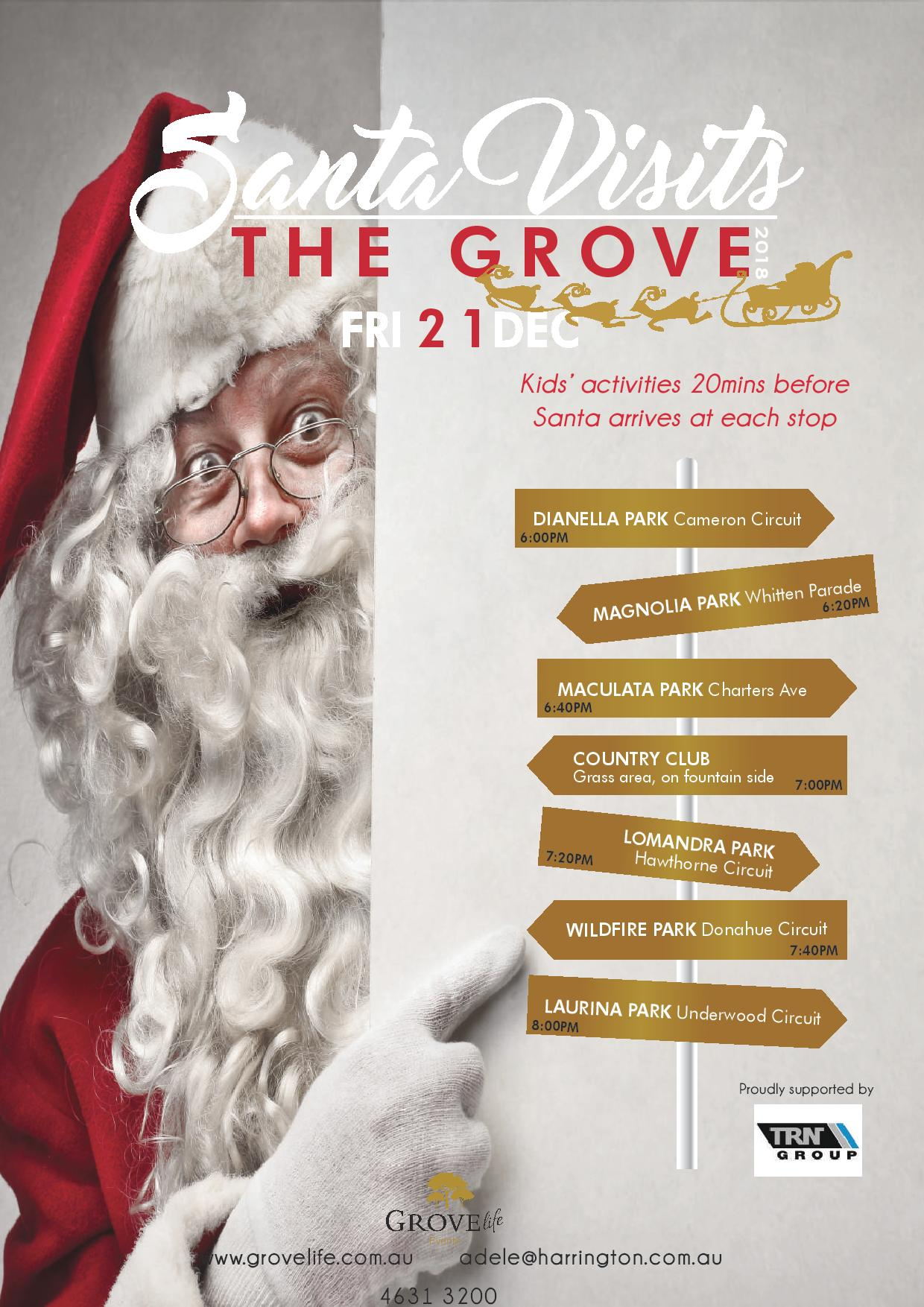 Santa Visits the Grove-Web
